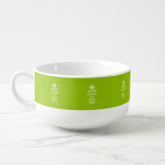 Android Green Style Keep Calm And Your Text Soup Mug