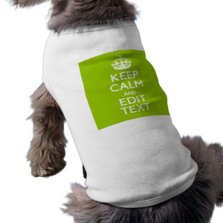 Android Green Style Keep Calm And Your Text Tee