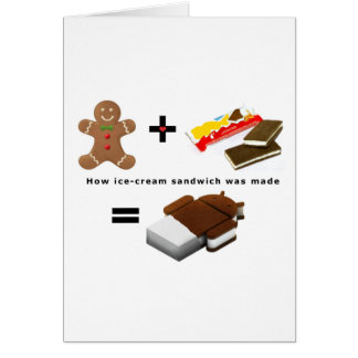 Android Ice Cream Sandwich Card