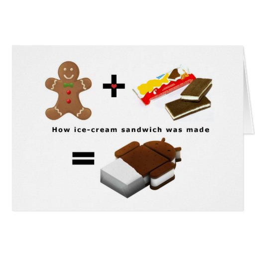 Android Ice Cream Sandwich Greeting Cards