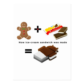 Android Ice Cream Sandwich Postcard