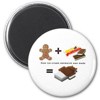 Android Ice Cream Sandwich Refrigerator Magnet