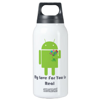Android in Love 10 Oz Insulated SIGG Thermos Water Bottle