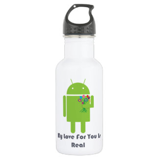 Android in Love 18oz Water Bottle