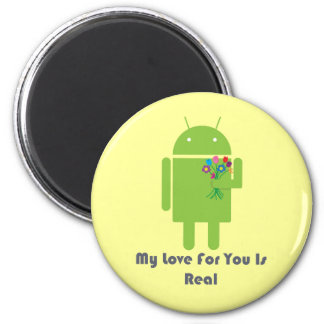 Android in Love 2 Inch Round Magnet