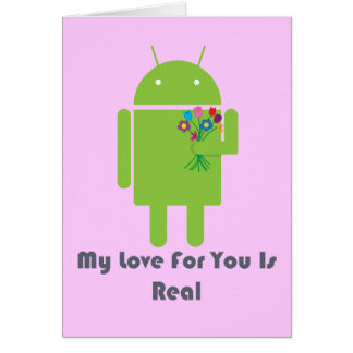 Android in Love Card
