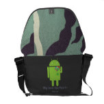 Android in Love Courier Bags