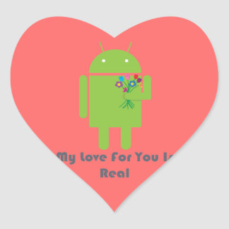 Android in Love Heart Sticker