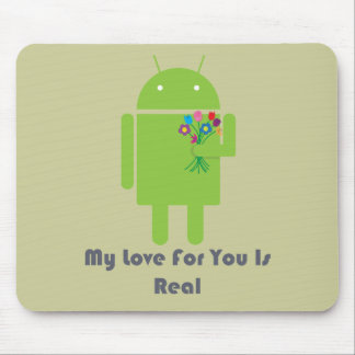 Android in Love Mouse Pad