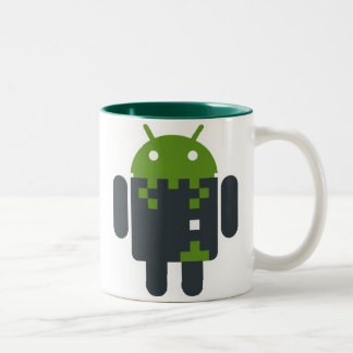 Android Invader Two-Tone Coffee Mug