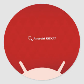 Android Kit Kat Classic Round Sticker
