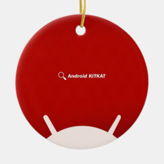 Android Kit Kat Double-Sided Ceramic Round Christmas Ornament