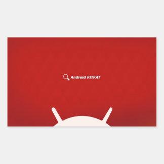 Android Kit Kat Rectangular Sticker