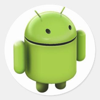 Android logo pegatina redonda