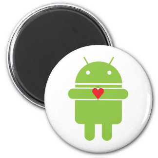 Android Love 2 Inch Round Magnet