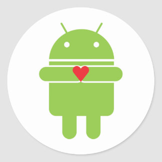 Android Love Classic Round Sticker