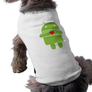 Android Love Dog Tshirt