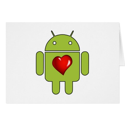 Android Love (Green) Greeting Card