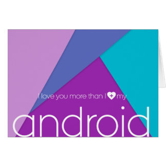 Android Love! greeting card with envelope