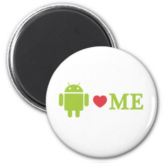 Android Loves Me 2 Inch Round Magnet