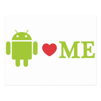 Android Loves Me Postcard