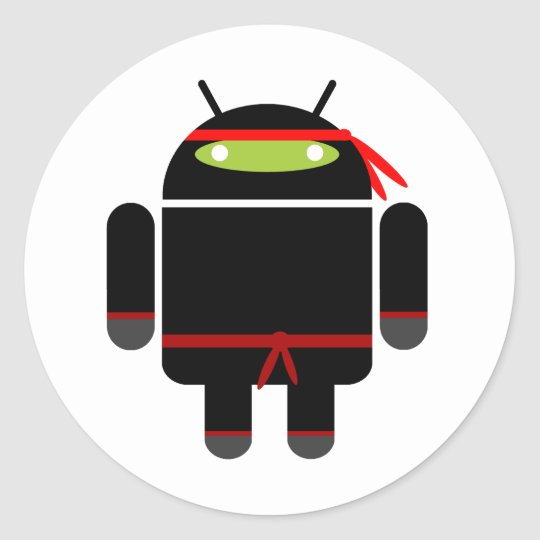 Android Ninja Classic Round Sticker