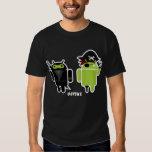 Android Ninja versus Pirate Shirt