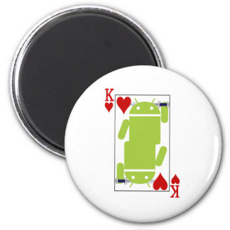 Android of Hearts 2 Inch Round Magnet
