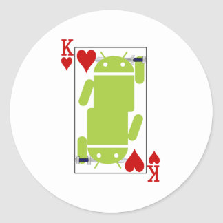 Android of Hearts Classic Round Sticker