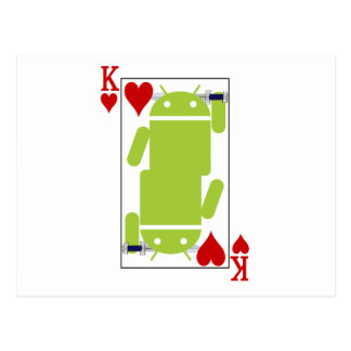 Android of Hearts Postcard