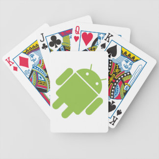 Android OS Robot Playing Cards