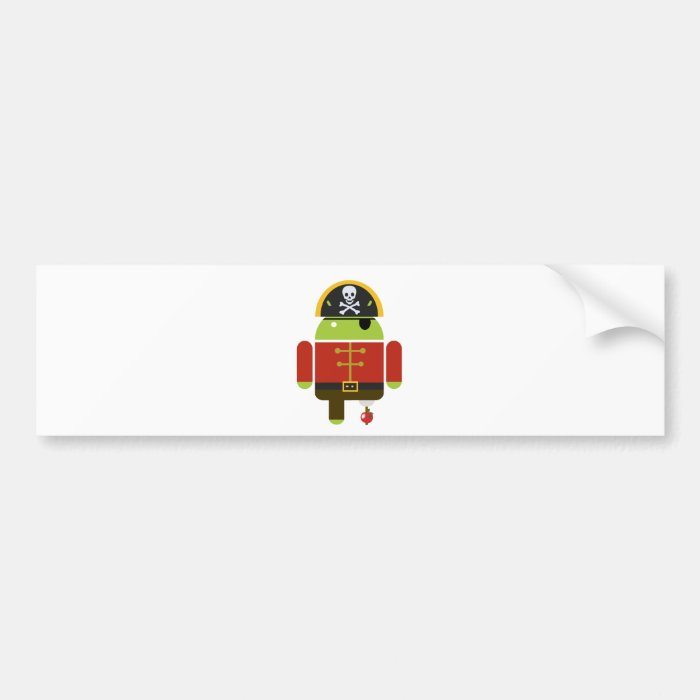 Android Pirate - Andy Bumper Sticker
