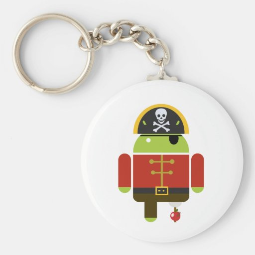 Android Pirate - Andy Keychain