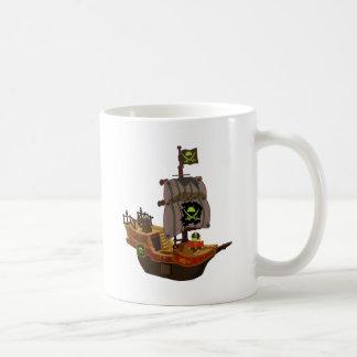 Android Pirate on a Ship Coffee Mug