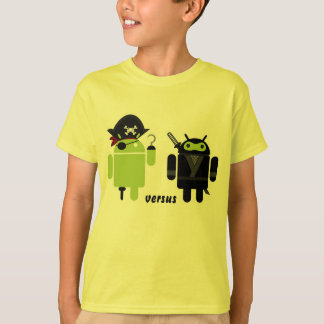 Android Pirate versus Ninja T-Shirt
