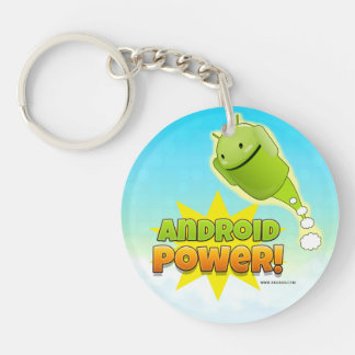 Android power llavero redondo
