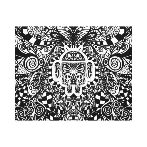 Android Power of the Doodle Canvas Print