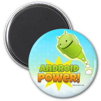 Android Power round magnet