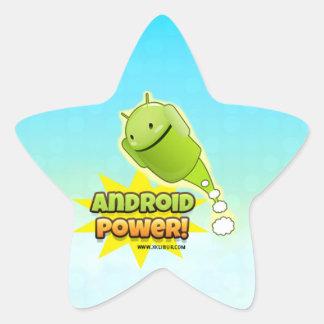 Android Power sticker star Colcomanias Forma De Estrella Personalizadas