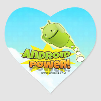Android Power to sticker heart