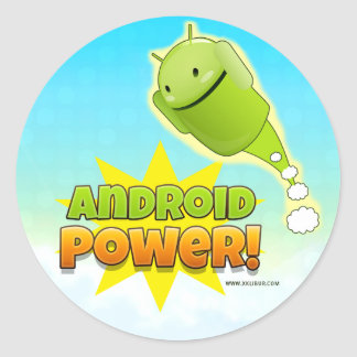 Android Power to sticker round large