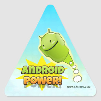 Android Power to sticker triangle