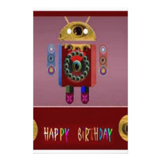 ANDROID Robot Alien Warrior Customized Stationery
