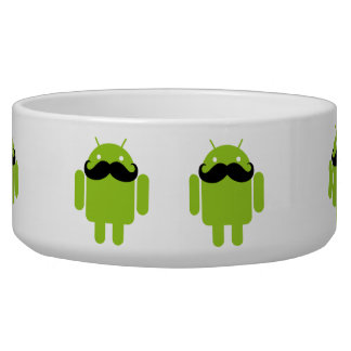 Android Robot Black Mustache Graphic Bowl