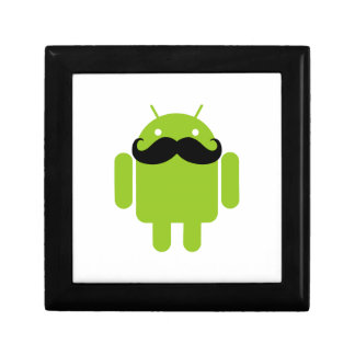 Android Robot Black Mustache Graphic Jewelry Box