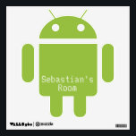 """Android Robot Customizable Wall Decal<br><div class=""""desc"""">Android robot customizable for you to add your own text ..  fun wall decals to make your home a unique and cool place to live .. wall decals from equal to Angels / from Ricaso</div>"""