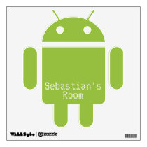 Android Robot Customizable Wall Decal