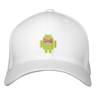 Android Robot Formal Gala Bowtie Embroidery Embroidered Baseball Cap