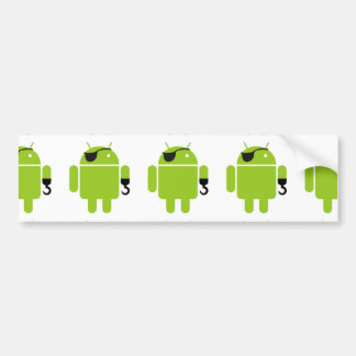 Android Robot Icon as a Pirate Bumper Sticker