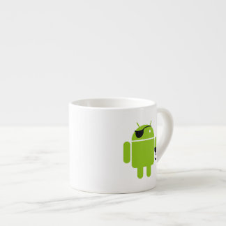 Android Robot Icon as a Pirate Espresso Cup